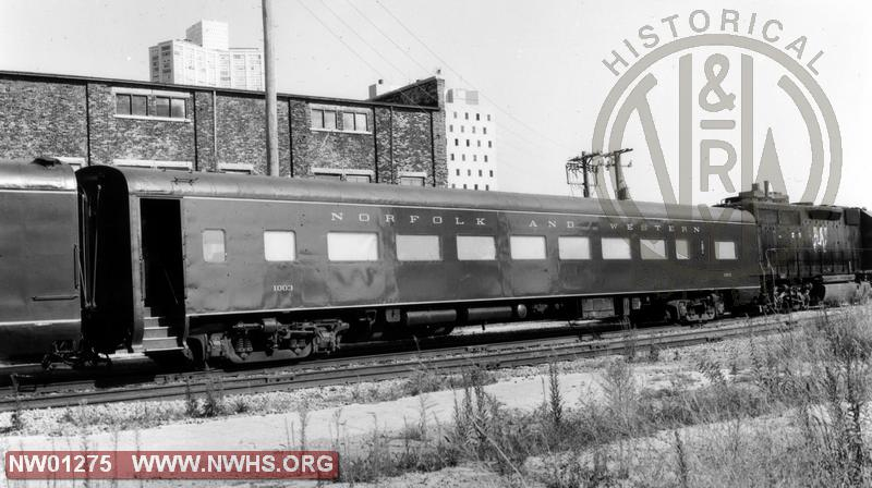 """PM"" Coach #1003(Converted frm #1722) - B&W   (""Traps welded down for commuter service)"