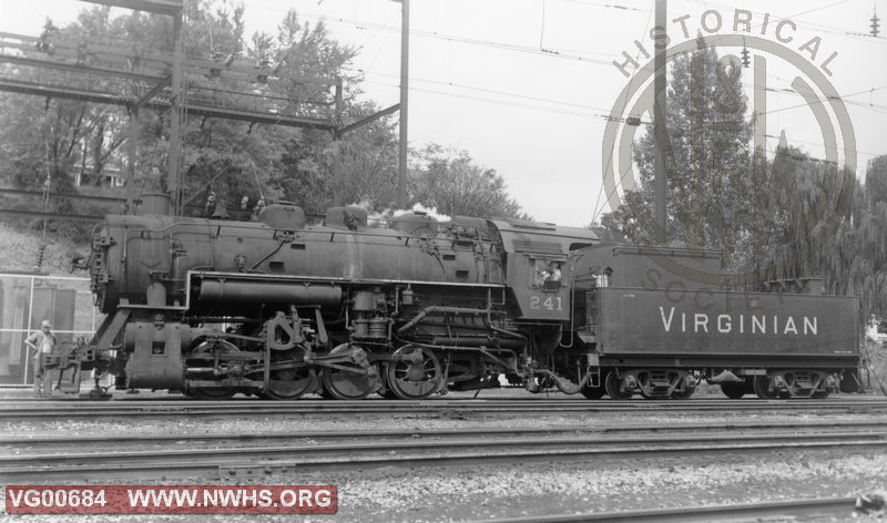 VGN Steam Locomotive 0-8-0 Class SB #241 Roanoke, VA