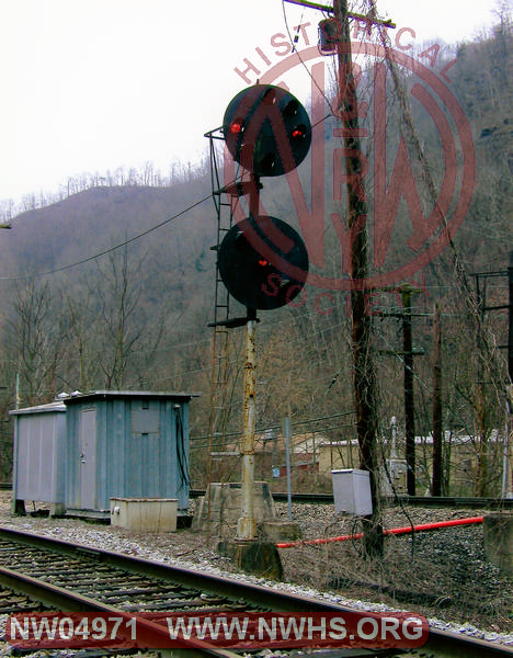 Postion Light Signal-@ Yard Throat, Color, @ Iaeger, WV