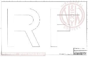 nwhs archives documents EMD F40PH 15 inch block lettering for diesel lo otives letters r and f sheet 2 of 6